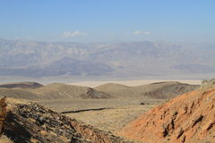 Desert Landscape in California: View into Saline Valley Royalty Free Stock Images