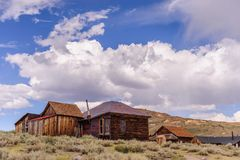 Californian Ghost Town. Bodie, on the border of California and Nevada, is one of the best preserved Ghost Towns in the United States. It was founded during the Royalty Free Stock Photos