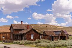Californian Ghost Town. Bodie, on the border of California and Nevada, is one of the best preserved Ghost Towns in the United States. It was founded during the Royalty Free Stock Image