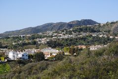 Californian Homes. Homes in the hills of Malibu Royalty Free Stock Images