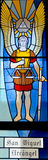 Californian mission stained glass window Royalty Free Stock Photo