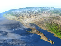 Californian peninsula on planet Earth Stock Image