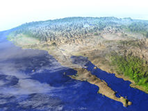 Californian peninsula on realistic model of Earth Royalty Free Stock Image