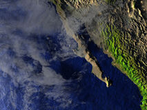 Californian peninsula on realistic model of Earth Stock Images