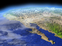 Californian peninsula from space Royalty Free Stock Image