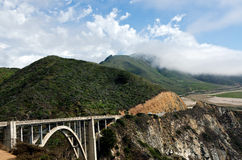 Californias Rugged Big Sur Area. The Bixby Bridge in Big Sur Royalty Free Stock Images