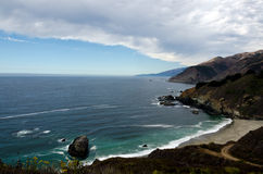 Californias Rugged Coastline. In the Big Sur area Stock Photography