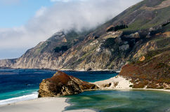 Californias Rugged Coastline. In the Big Sur area Royalty Free Stock Photography