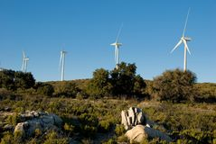 Californische Windfarm Stock Fotografie