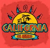 Califórnia - Los Angeles - crachá do vetor - emblema Fotografia de Stock