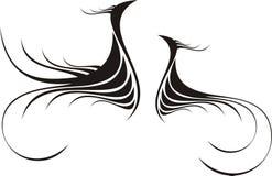 Caligrafía abstracta decorativa stock de ilustración