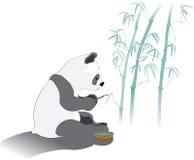 Caligrafía de bambú de la panda Imágenes de archivo libres de regalías