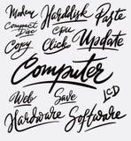 Caligrafía de la escritura del ordenador y del software imagen de archivo