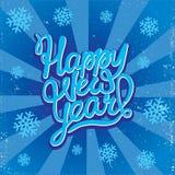 Caligrafía de la Feliz Año Nuevo Foto de archivo
