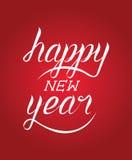 Caligrafía de la Feliz Año Nuevo Foto de archivo libre de regalías