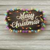 Caligrafía de la Navidad - letrero del vintage EPS 10 Imagen de archivo