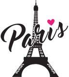 Caligrafía de moda Diseño gráfico simple para París Fotografía de archivo libre de regalías