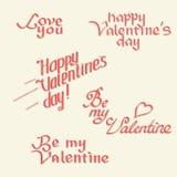 Caligrafía del día de tarjetas del día de San Valentín Foto de archivo libre de regalías