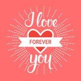 Caligrafía dibujada mano del amor para el fondo retro de Valentine Day Decoration And Celebration para la invitación o el saludo Imágenes de archivo libres de regalías