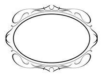 Caligrafía oval de la caligrafía decorativa Imagenes de archivo