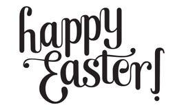 Caligrafía y letras felices de Pascua Fotografía de archivo