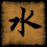 Caligrafía china del agua cinco elementos Fotografía de archivo