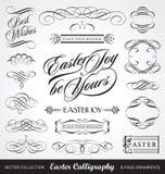 Caligrafía de Pascua fijada () Fotos de archivo libres de regalías