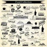 Caligrafía del menú de la comida Imagen de archivo libre de regalías