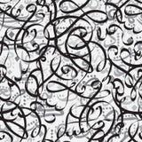 Caligrafía árabe del ornamento inconsútil del modelo del concepto de Eid Mubarak del texto para el festival de comunidad musulmán Foto de archivo