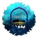 Caligrafia árabe de um cumprimento do eid, adha feliz do al de Eid, fitr de EID Al, fundo digital da arte do cartão bonito de Eid imagens de stock royalty free