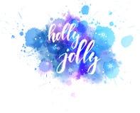 Caligrafia alegre do feriado do azevinho ilustração royalty free