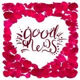 A caligrafia da boa notícia ilustração royalty free