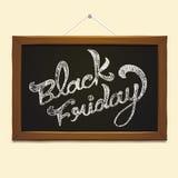 Caligrafia de Black Friday sobre o quadro-negro Imagens de Stock