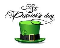 Caligrafia do chapéu do dia do ` s de St Patrick Imagens de Stock Royalty Free