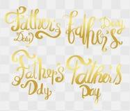 caligrafia do dia de pais com ideia abstrata para o cartão, ilustração stock
