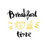 Caligrafia do tempo de café da manhã ilustração stock