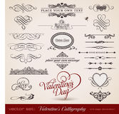 Caligrafia do Valentim ilustração do vetor