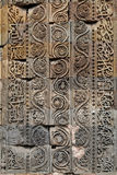 Caligrafia e projeto intrincado no complexo de Qutub Minar Fotografia de Stock