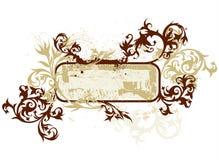 A caligrafia floresce a vinheta Fotos de Stock Royalty Free
