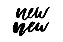 Caligrafia gráfica da rotulação da forma da cópia do vetor da frase nova do slogan ilustração stock