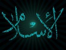 Caligrafia islâmica com typography Imagens de Stock Royalty Free