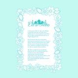 Caligrafia islâmica do Eid-Ul-Adha do texto em floral decorado Vec Imagens de Stock Royalty Free