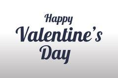 Caligrafia isolada do dia de Valentim no preto Imagem de Stock Royalty Free