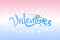 Caligrafia isolada do Valentim feliz com cor macia Fotografia de Stock