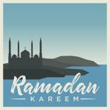 Caligrafia original de Ramadan Kareem ilustração royalty free