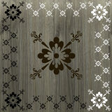 Caligraphic border floral on wood background. Vector illustration Royalty Free Stock Photo
