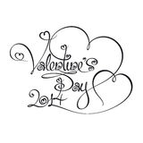 Caligraphic Text - Valentines Day 2014 Royalty Free Stock Photography