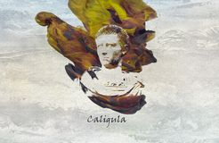 Roman Emperor Caligula. Caligula was Roman emperor from AD 37 to AD 41. The son of the popular Roman general Germanicus stock illustration
