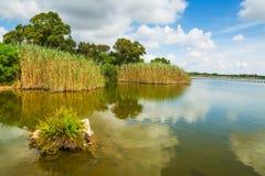 Calik lagoon on a cloudy day Stock Photo