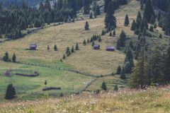 Calimani National Park - 12 Apostles. Traditional houses in the mountains of Bucovina Stock Photography